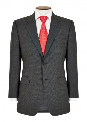 Classic Fit Grey Micro Check Suit