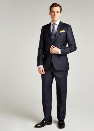 Tailored Fit Blue/Royal Check Suit