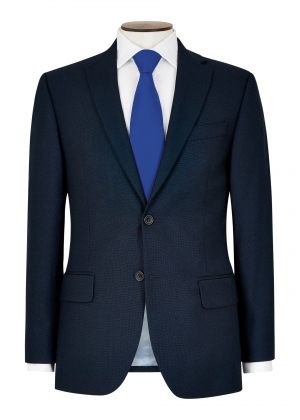 Tailored Fit Blue Birdseye Suit