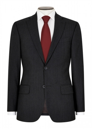 Tailored Fit Grey Herringbone Suit