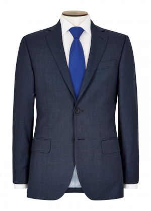 Tailored Fit Mid Blue Pic and Pic Suit
