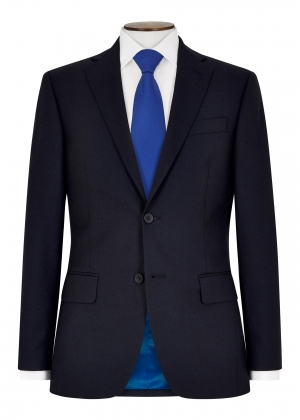 Tailored Fit Navy Blue Pic and Pic Suit