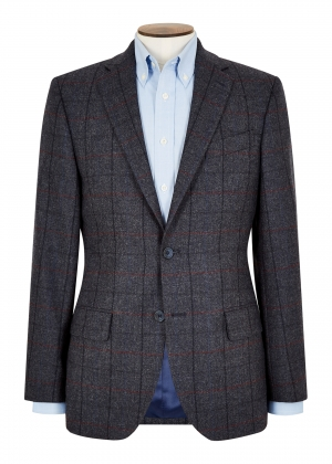 Tailored Fit Blue, Red and Royal Check Jacket