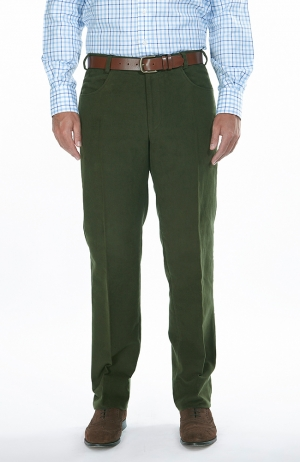 Moleskin Trousers Dark Olive