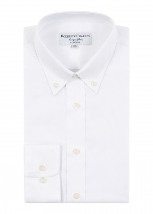 White Oxford Cotton Button Down Shirt