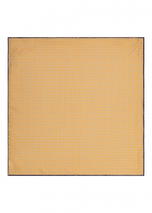 Yellow Dogtooth Silk Pocket Square