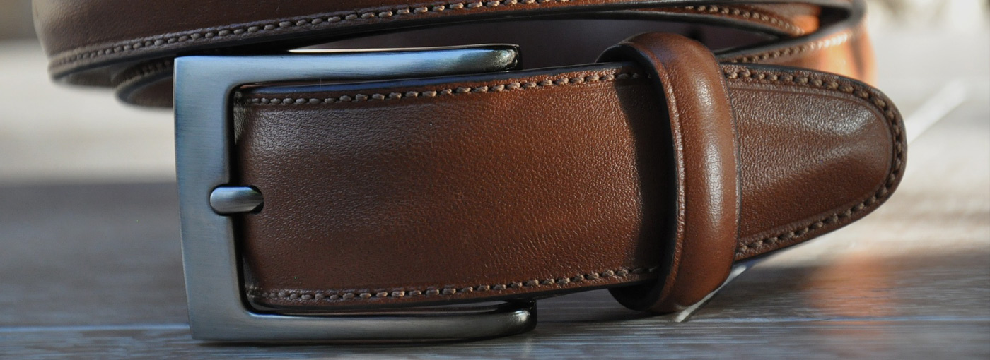 men's classic leather belts